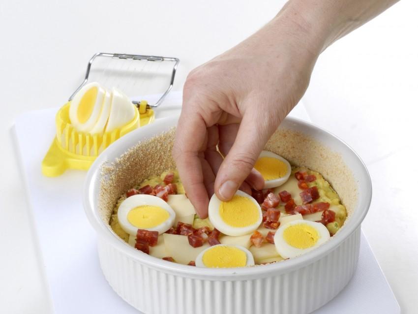 timballo di patate con provolone e salsiccia