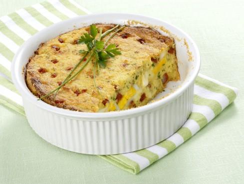 timballo di patate provolone e salsiccia
